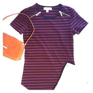 Striped MK Tee, Size S